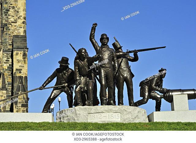War of 1812 memorial, Parliament Buidings, Ottawa, Ontario, Canada