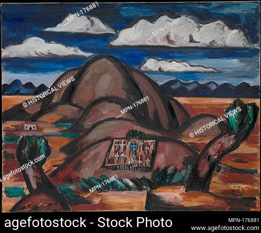 Cemetery, New Mexico. Artist: Marsden Hartley (American, Lewiston, Maine 1877-1943 Ellsworth, Maine); Date: 1924; Medium: Oil on canvas; Dimensions: 31 5/8 x 39...