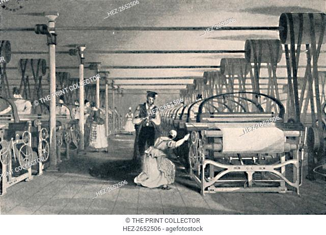 'Weaving by Power Looms', 1835, (1904). From Social England, Volume V, edited by H.D. Traill, D.C.L. and J. S. Mann, M.A