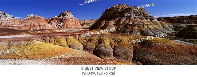 Xinjiang colorful mountain