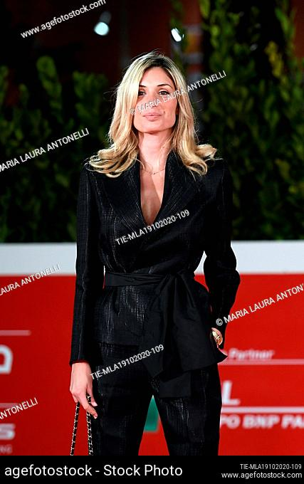 on red carpet of film 'Open your eyes' at the 15th Rome Film Festival, Rome, ITALY-18-10-2020
