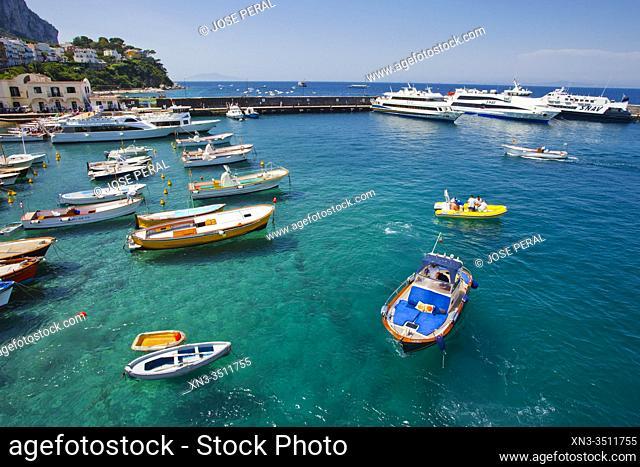 Marina Grande, Capri Island, Campania region, Tyrrhenian Sea, Italy, Europe