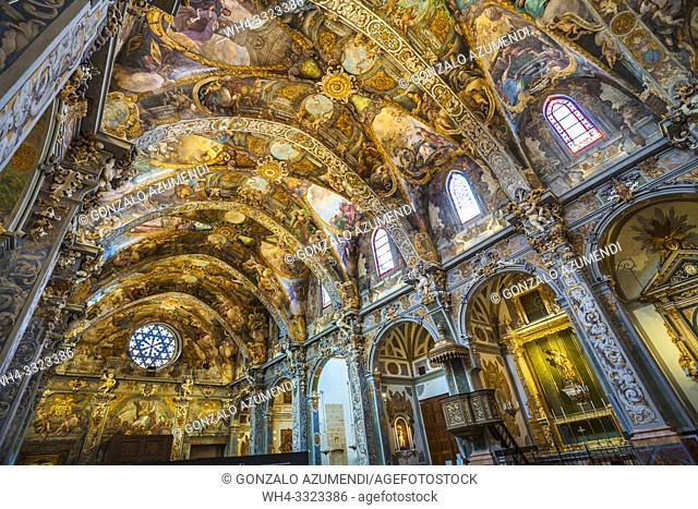 San Nicolas church. Sistine Chapel of Valencia. Baroque fresco. Valencia. Comunidad Valencia. Spain. Europe