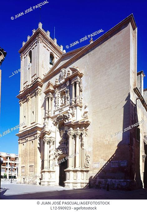 Santa Maria church. El Cid road. Elche. Alicante province. Comunidad Valenciana