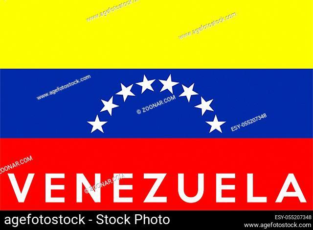 very big size illustration country flag of Venezuela