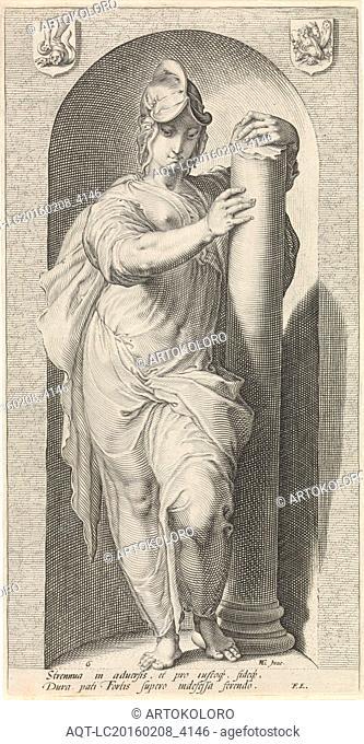 Force (Fortitudo), Jan Saenredam, Franco Estius, 1593