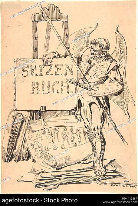 Der Fehlerteufel (Devil of Mistakes). Artist: Gustav Bartsch (German, Gleiwitz (Oberschlesien) ca. 1821-after 1870 Dresden-Blasewitz); Date: 1844; Medium: Pen...