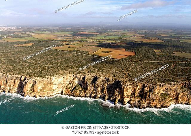 Aerial View of Mallorca South Shore, Mallorca, Balearic Island, Spain