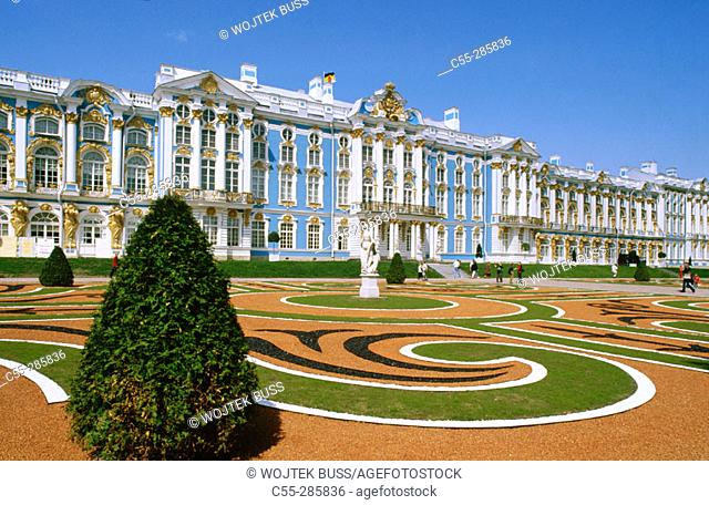 Catherine Palace, Pushkin (Tsarskoye Selo). St. Petersburg. Russia