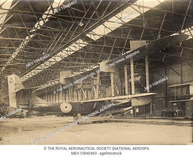 Phoenix P5 Cork MkII, N87, inside the hangar at Brough