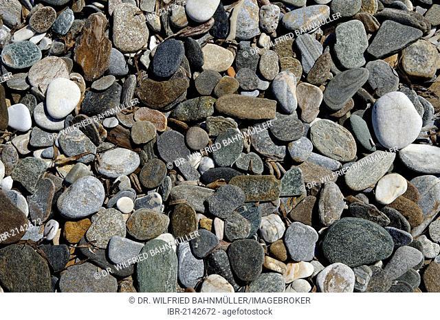 Pebbles, Konstantinos on the north coast of Samos island, southern Sporades, Aegean sea, Greece, Europe