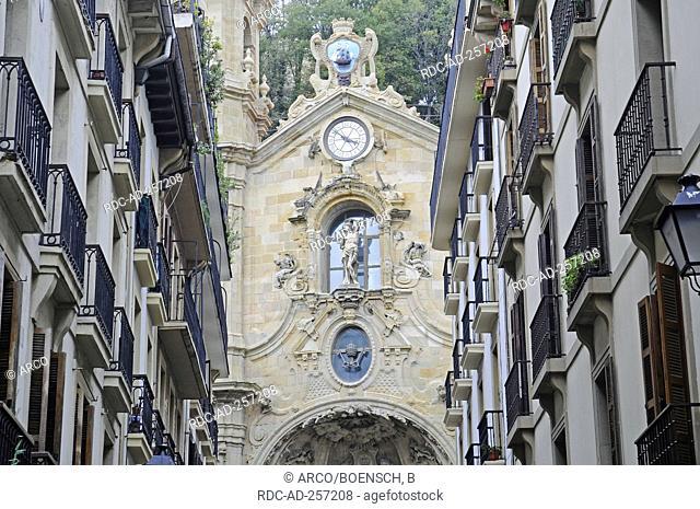 Church of Santa Maria old town Parte Vieja San Sebastian province of Gipuzkoa Basque Country Spain Pais Vasco