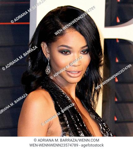 Vanity Fair Oscar Party at Wallis Annenberg Center for Performing Arts - Arrivals Featuring: Chanel Iman Where: Los Angeles, California