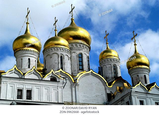 Russia, Moscow, Kremlin, Annunciation Cathedral (1484-89)