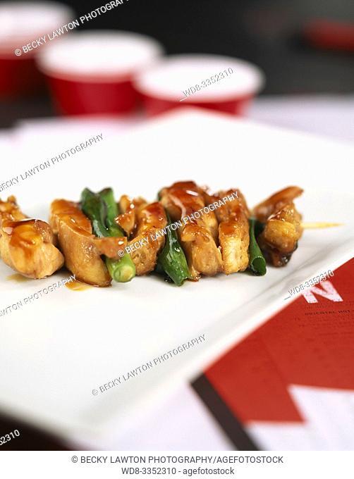 yakitori-pinchos de pollo