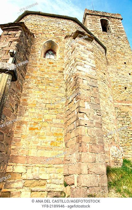 Santa Maria romanesque church in San Martin de Buil Huesca Spain