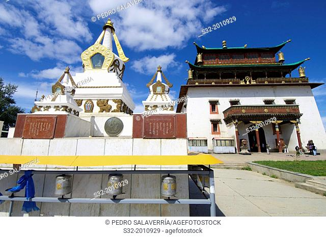 Bodhisattva Chenrezig Temple in Gandantegchenling Monastery, Ulan Bator, Mongolia