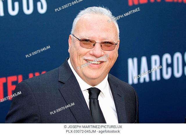 Javier Pena at the Premiere of Netflix's Narcos Season 2 Premiere held at Arclight Hollywood in Hollywood, CA, August 24, 2016