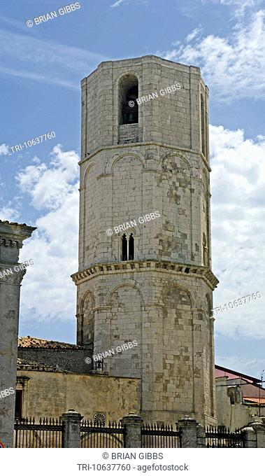 Bell Tower Pilgrimage Church of San Michele Arcanulo Monte Sant'Angelo Apulia, Gargano Peninsula Puglia Southern Italy