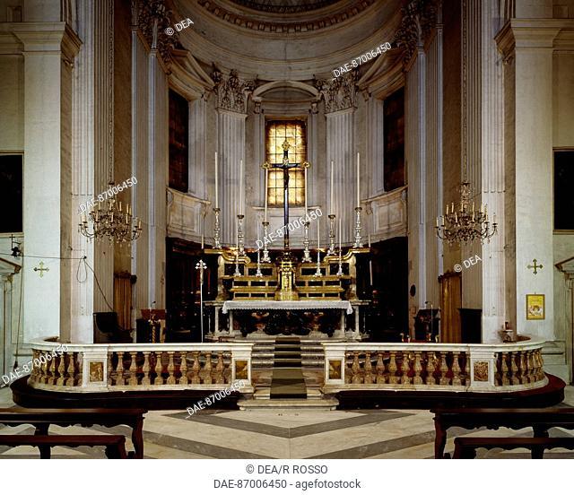 High altar of Santa Maria Assunta Church, Carignano, Genoa, by architect Galeazzo Alessi (1512-1572). Italy, 16th century
