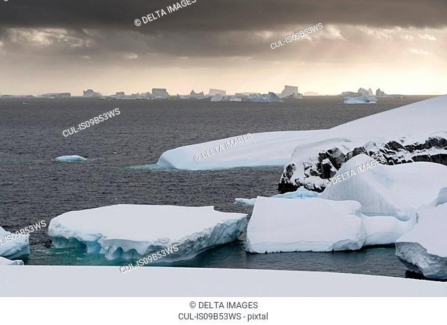 Icebergs near Petermann Island, Antarctica