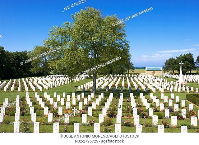 Second World Cemetery, Beny Sur Mer, Canadian War Cemetery, D-DAY Landing Site, British War Cemetery, Basse-Normandie. Calvados Department, Caen District