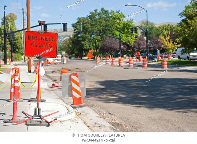 Road Construction on City Street