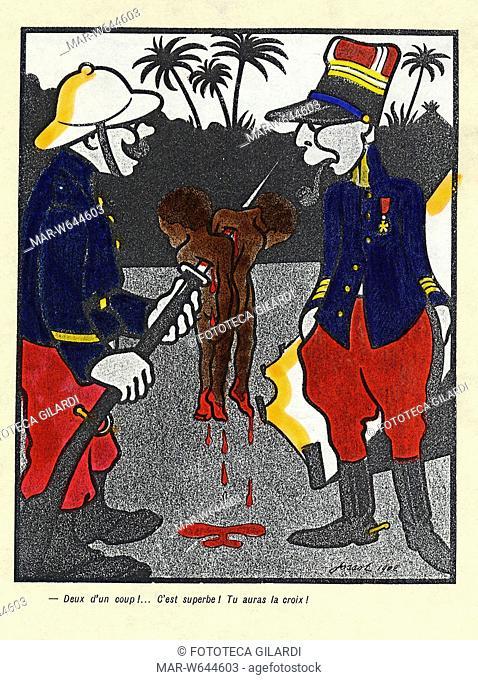 COLONIALISMO La satira stigmatizza e condanna le atrocità commesse dall'esercito francese verso gli abitanti delle colonie
