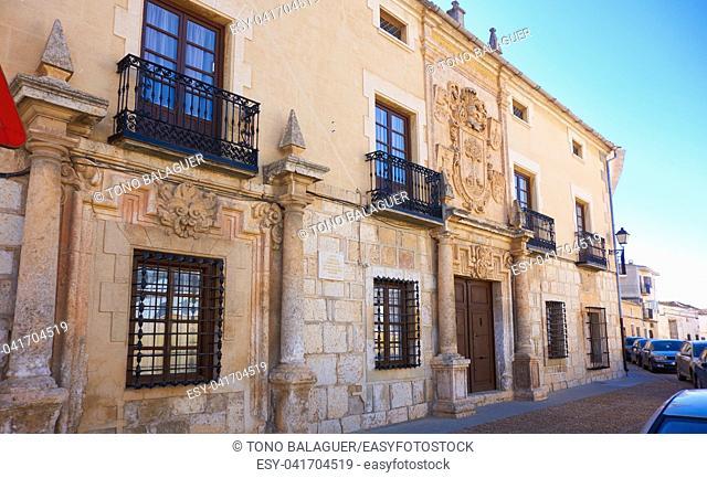 La Roda facade in Albacete at Castile La mancha of Spain