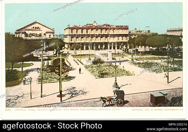 Central Park and Hotel Inglaterra, Havana, Cuba. Detroit Publishing Company postcards 8000 Series. Date Issued: 1898 - 1931 Place: Detroit Publisher: Detroit...