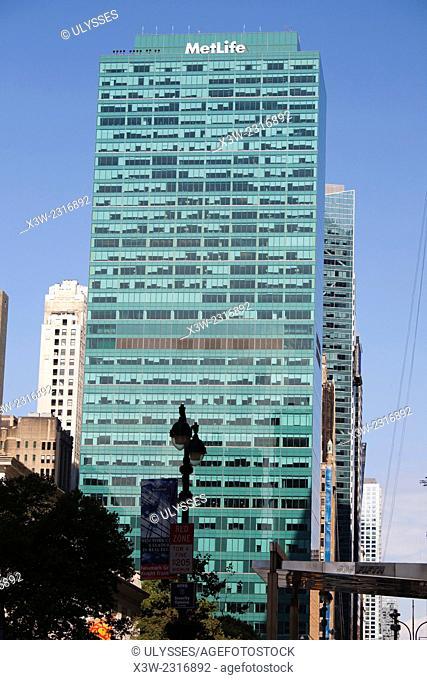 metlife tower, skyscraper, midtown, 6th avenue, avenue of Americas, manhattan, new york, usa, america