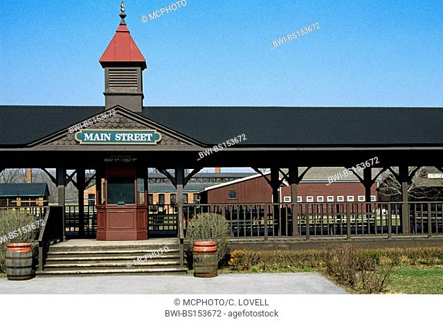 RAILWAY STATION in GREENFIELD VILLAGE outside of DEARBORN, USA, Michigan