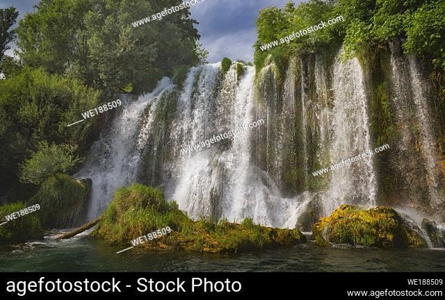Krka National Park, Nacionalni park Krka, Dalmatia, Croatia. Roski Slap. Waterfalls