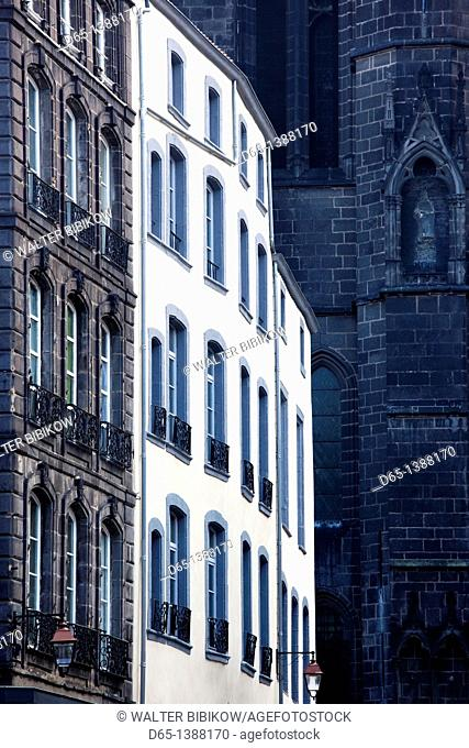 France, Puy-de-Dome Department, Auvergne Region, Clermont-Ferrand, Place de la Victoire, buildings