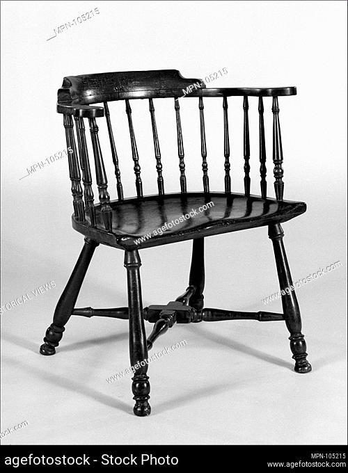 Roundabout Armchair. Date: 1740-90; Geography: Probably made in Newport, Rhode Island, United States; Culture: American; Medium: Ash