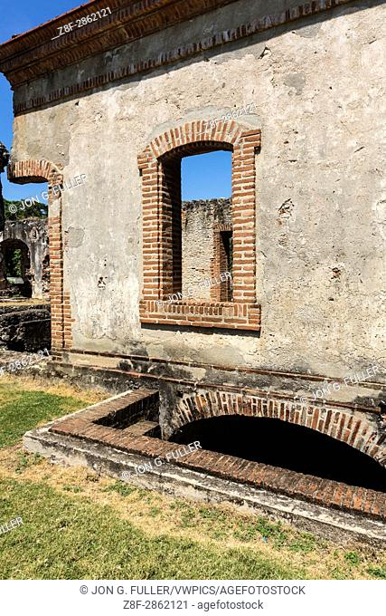 Ruins of the Nigua Sugar Mill, or Ingenio Boca de Nigua, built in the 1600's in Nigua in the Dominican Republic. In 1796