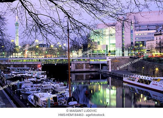 France, Paris, Port de l' Arsenal