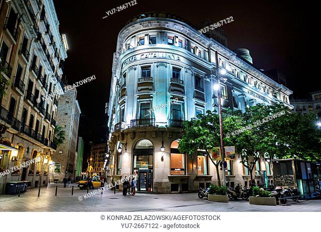 CatalunyaCaixa savings bank headquarters in Barcelona in Barcelona, Spain