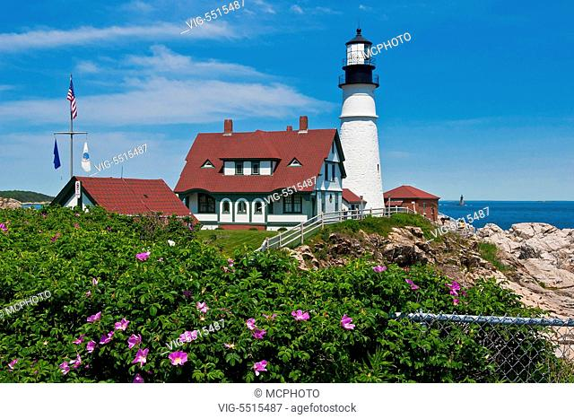 Portland Head Lighthouse in Maine, Neuengland - 15/05/2013