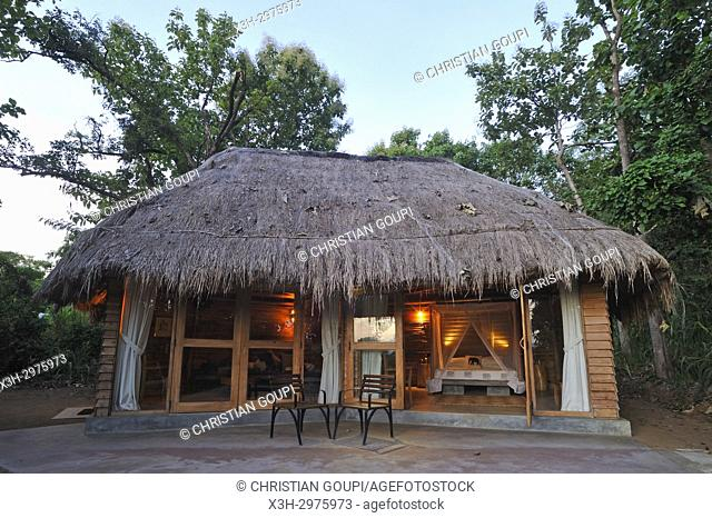 bungalow of Gal Oya Lodge, Gal Oya National Park, Sri Lanka, Indian subcontinent, South Asia