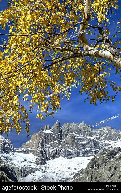 La Meije south side peak, Ecrins National Park, French Alps