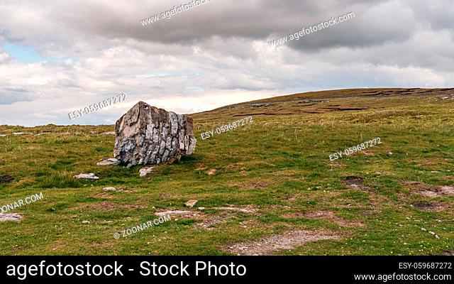 A cloudy day in the Yorkshire Dales near Oughtershaw, North Yorkshire, England, UK