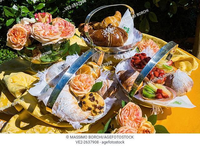 Italy, Campania, Ischia . Ischia Island - Ischia Porto. Pasticceria (pastry shop) Calise, typical pastries