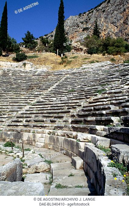 Theatre of Delphi (UNESCO World Heritage List, 1987), Greece. Greek and Roman civilisations, 4th-2nd century BC