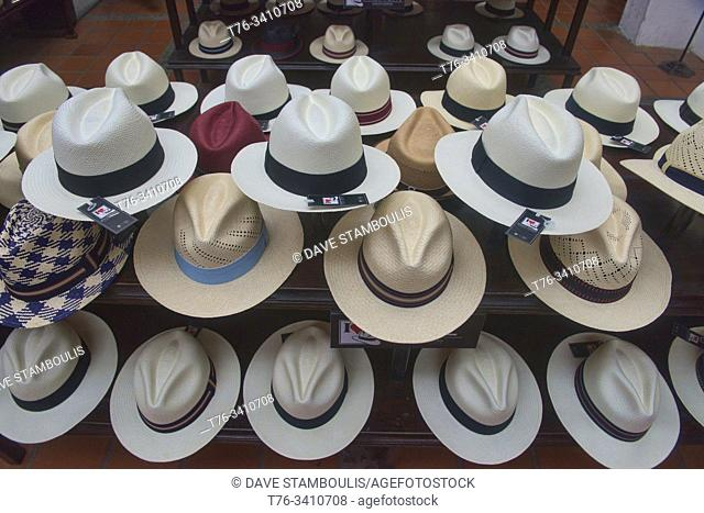 Traditional Panama hats (paja toquilla), which actually come from Ecuador