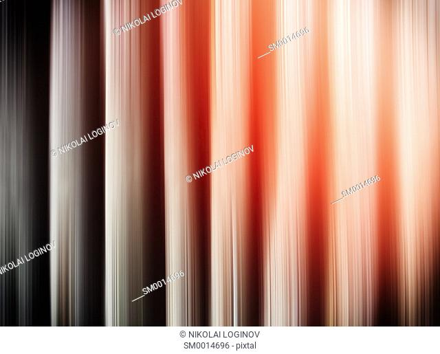 Horizontal vertical blinds vivid abstraction with light leak