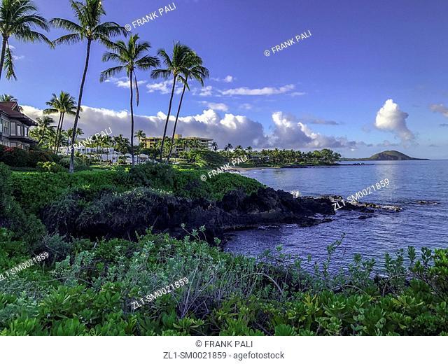 Wailea Coastal Walk along Maui's famed, sun-kissed south shore resort area. Hawaii