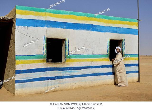 Colourful Nubian house, Bayuda Desert, Northern state, Nubia, Sudan