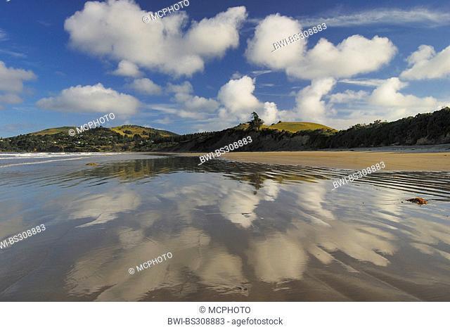 clouds over the beach of Moeraki, New Zealand, Southern Island