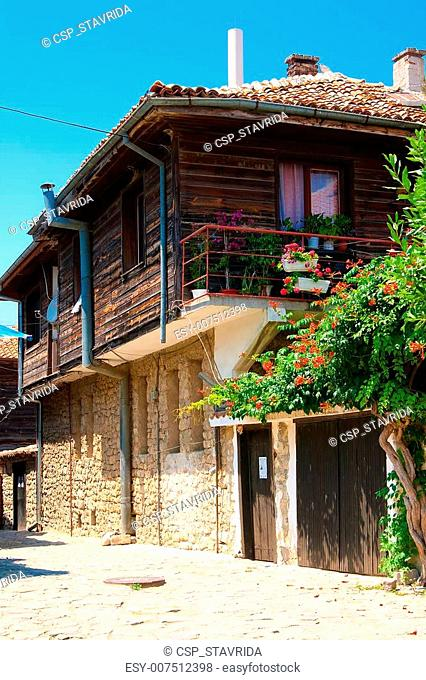 A typical house in the old town. Nessebar.Bulgaria